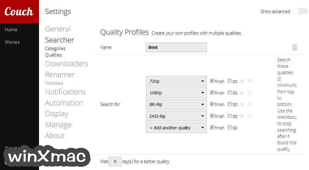 CouchPotato for Mac Screenshot 5