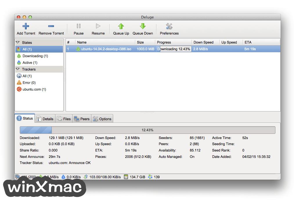 Deluge for Mac Screenshot 2