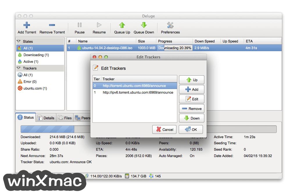 Deluge for Mac Screenshot 3