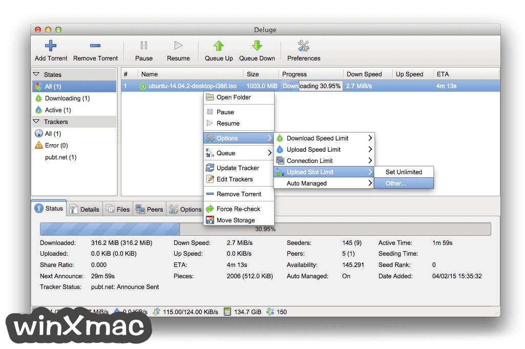 Deluge for Mac Screenshot 4