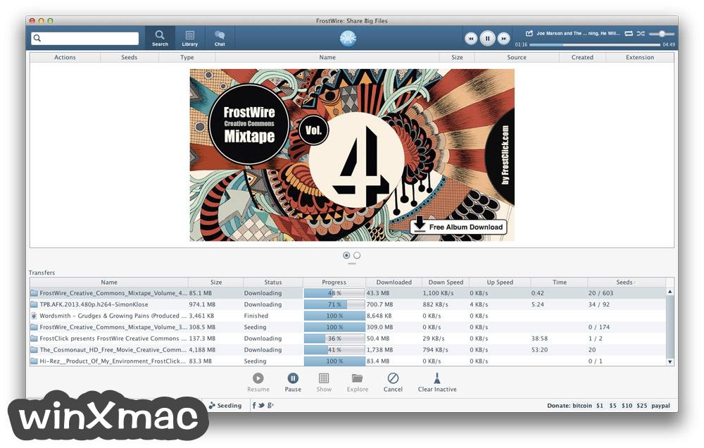 FrostWire for Mac Screenshot 2
