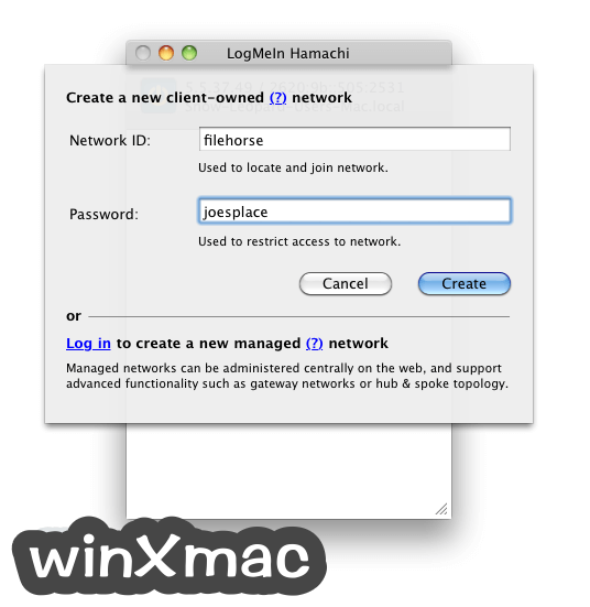 LogMeIn Hamachi for Mac Screenshot 4