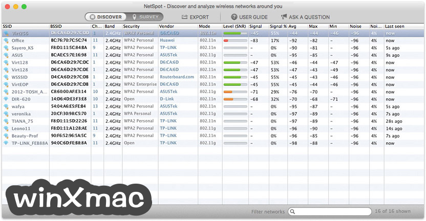 NetSpot for Mac Screenshot 4