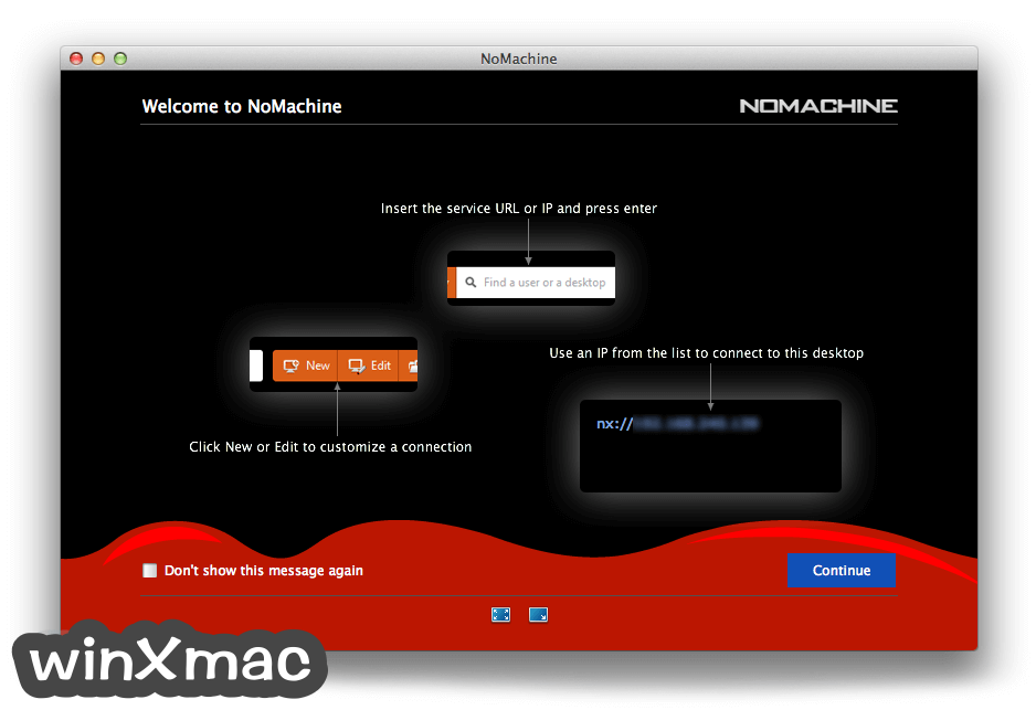NoMachine for Mac Screenshot 1