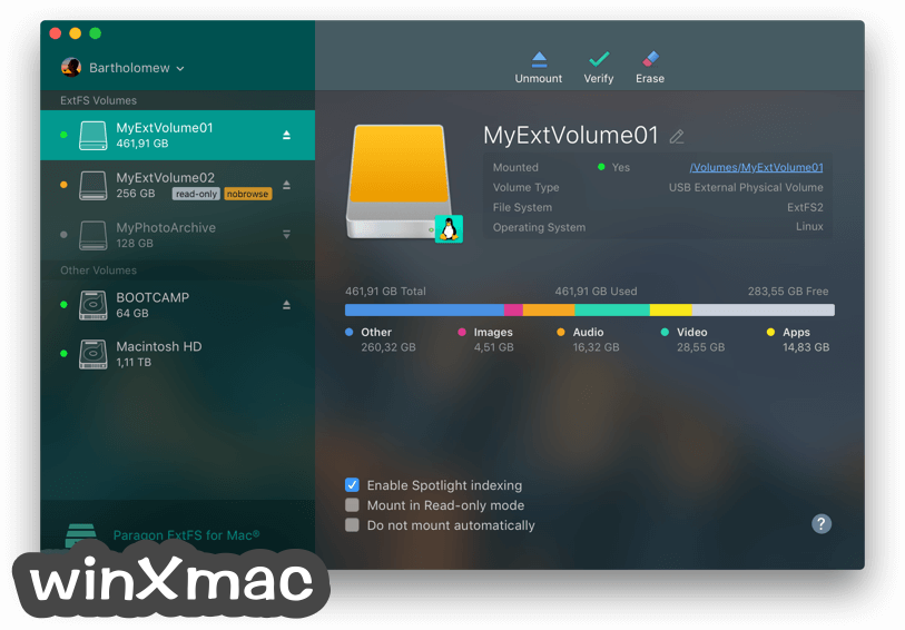 Paragon ExtFS for Mac Screenshot 1