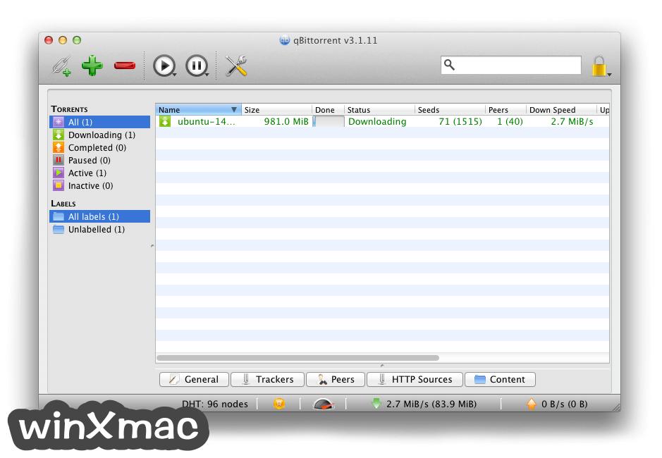 qBittorrent for Mac Screenshot 1
