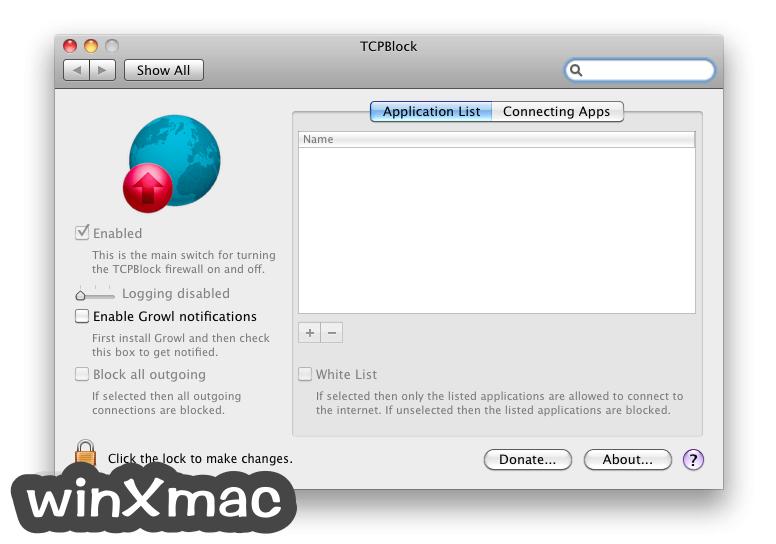 TCPBlock for Mac Screenshot 1