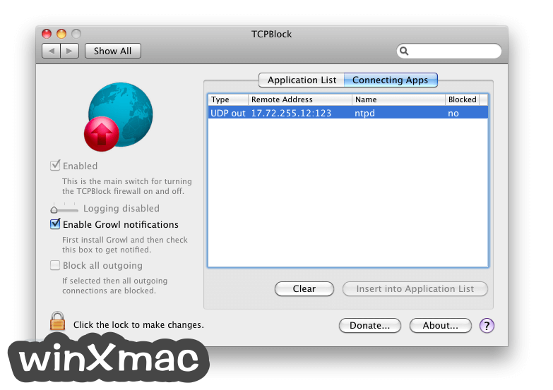 TCPBlock for Mac Screenshot 2