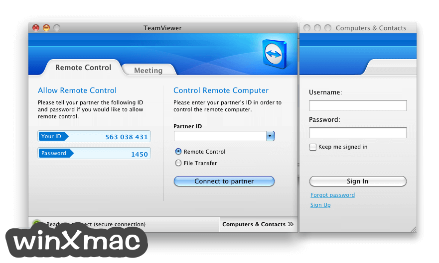 TeamViewer for Mac Screenshot 1