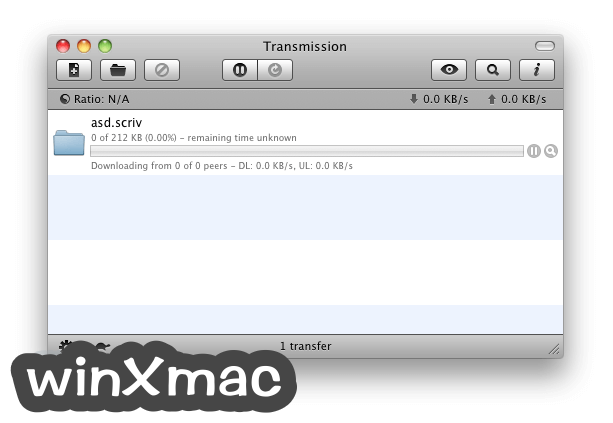 Transmission for Mac Screenshot 1
