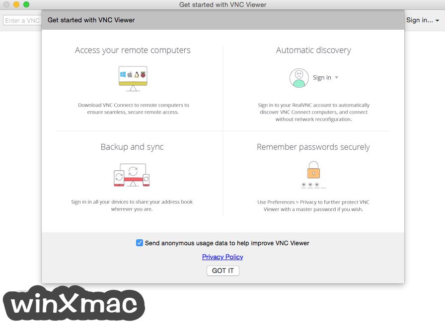 VNC Connect for Mac Screenshot 1
