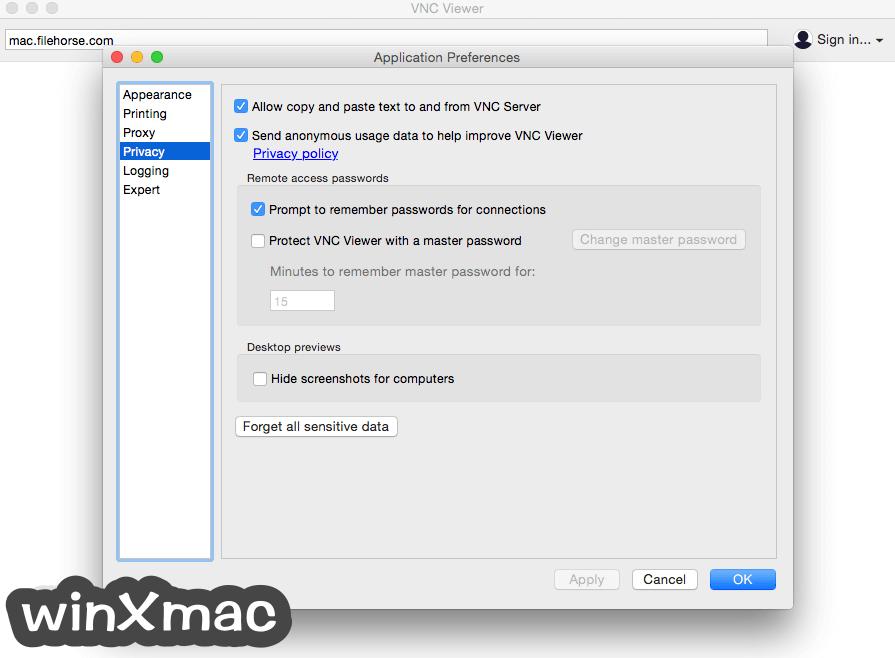 VNC Connect for Mac Screenshot 3