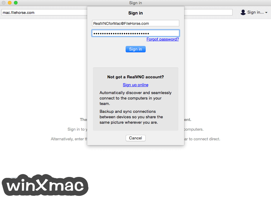 VNC Connect for Mac Screenshot 4