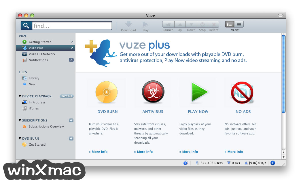 Vuze for Mac Screenshot 3