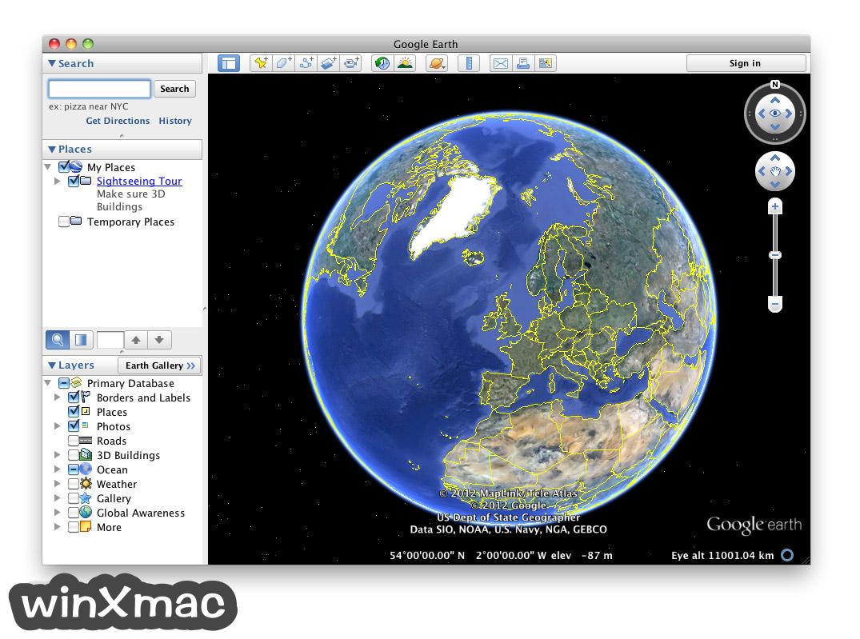 Google Earth for Mac Screenshot 1