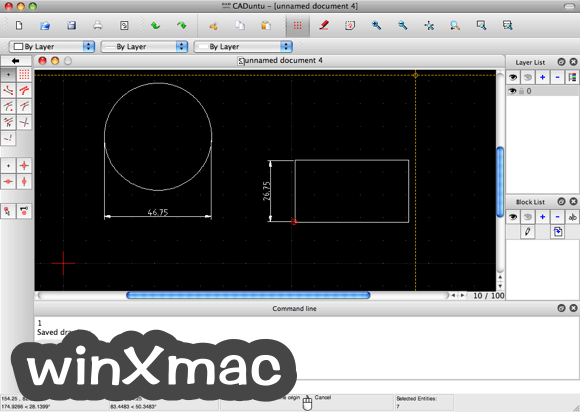 LibreCAD for Mac Screenshot 1