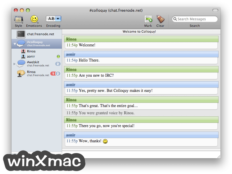 Colloquy for Mac Screenshot 1