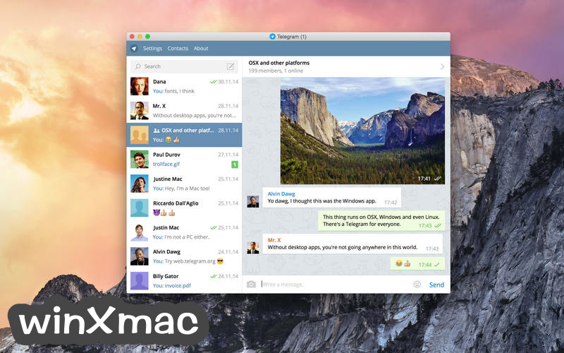 Telegram for Mac Screenshot 1