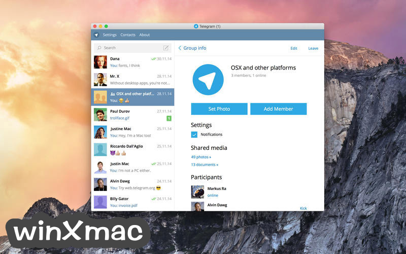 Telegram for Mac Screenshot 2