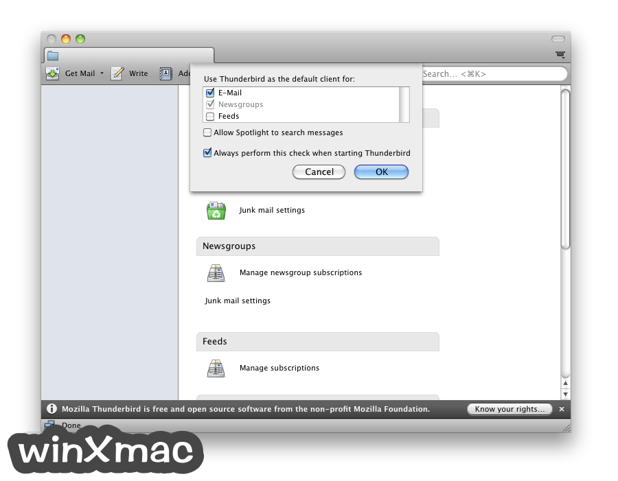 Thunderbird for Mac Screenshot 2