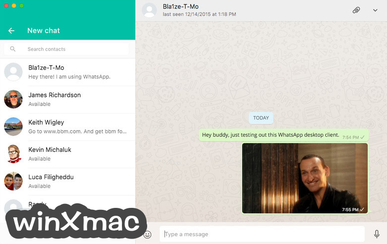 WhatsApp for Mac Screenshot 1