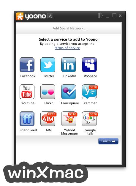 Yoono Desktop for Mac Screenshot 1
