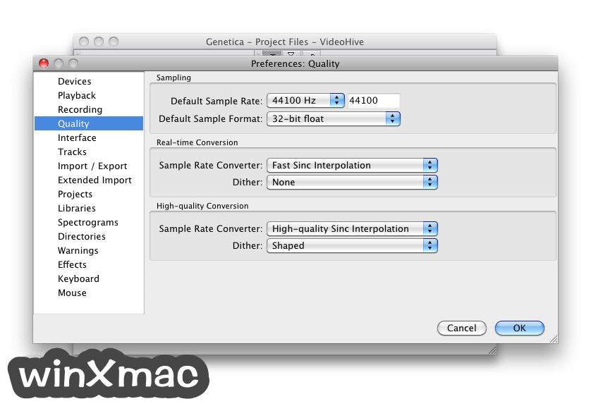 Audacity for Mac Screenshot 2
