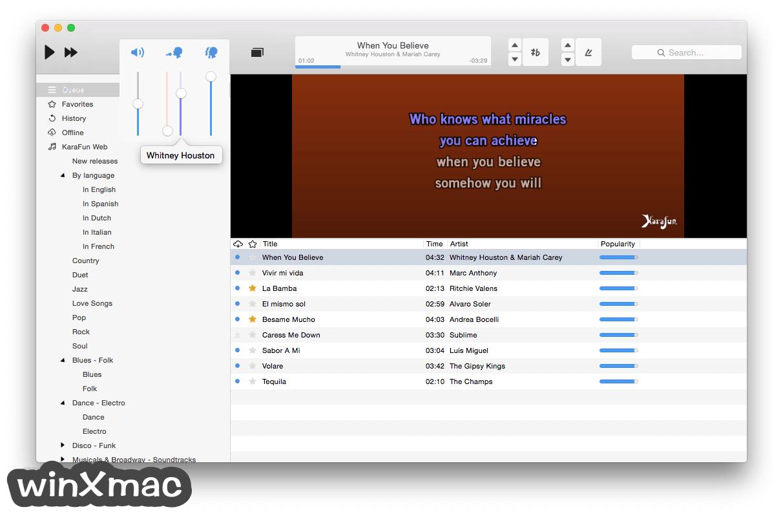 KaraFun Karaoke Player for Mac Screenshot 1