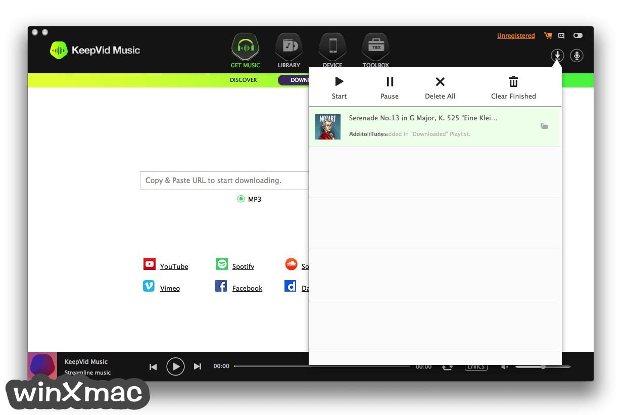 KeepVid Music for Mac Screenshot 1