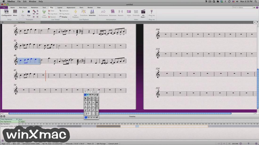Sibelius for Mac Screenshot 2
