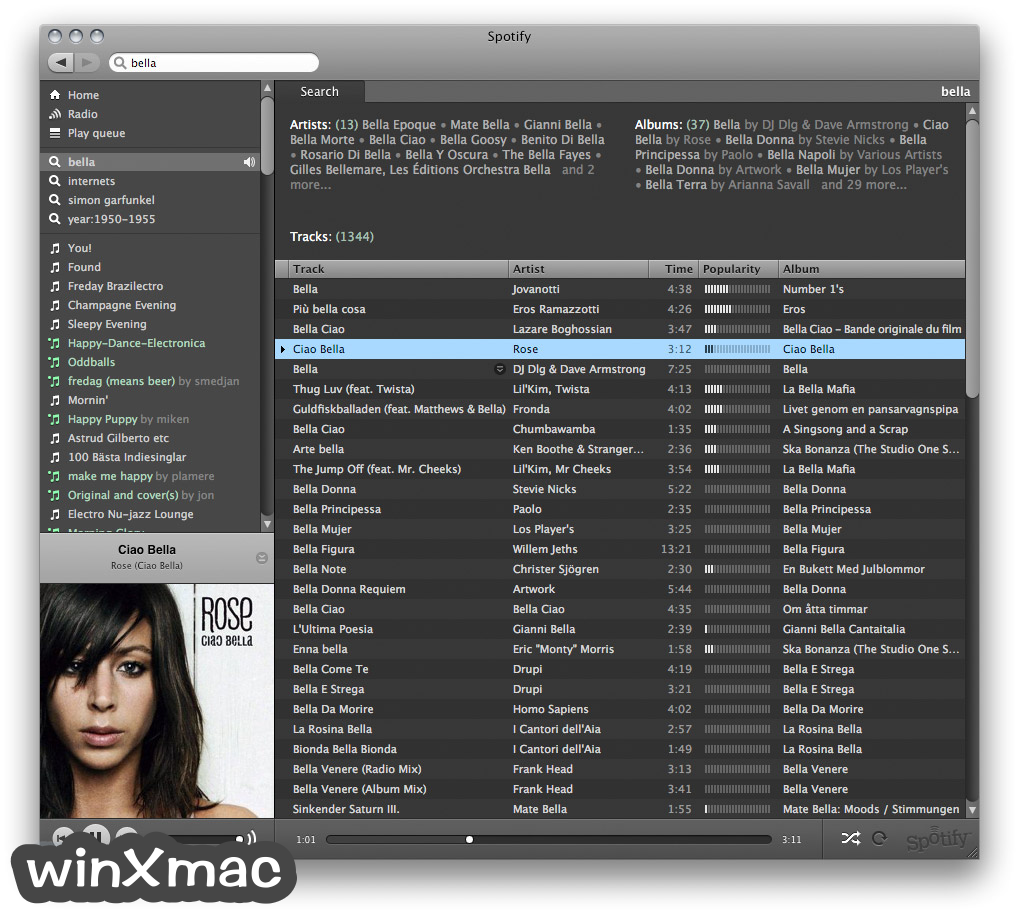 Spotify for Mac Screenshot 2