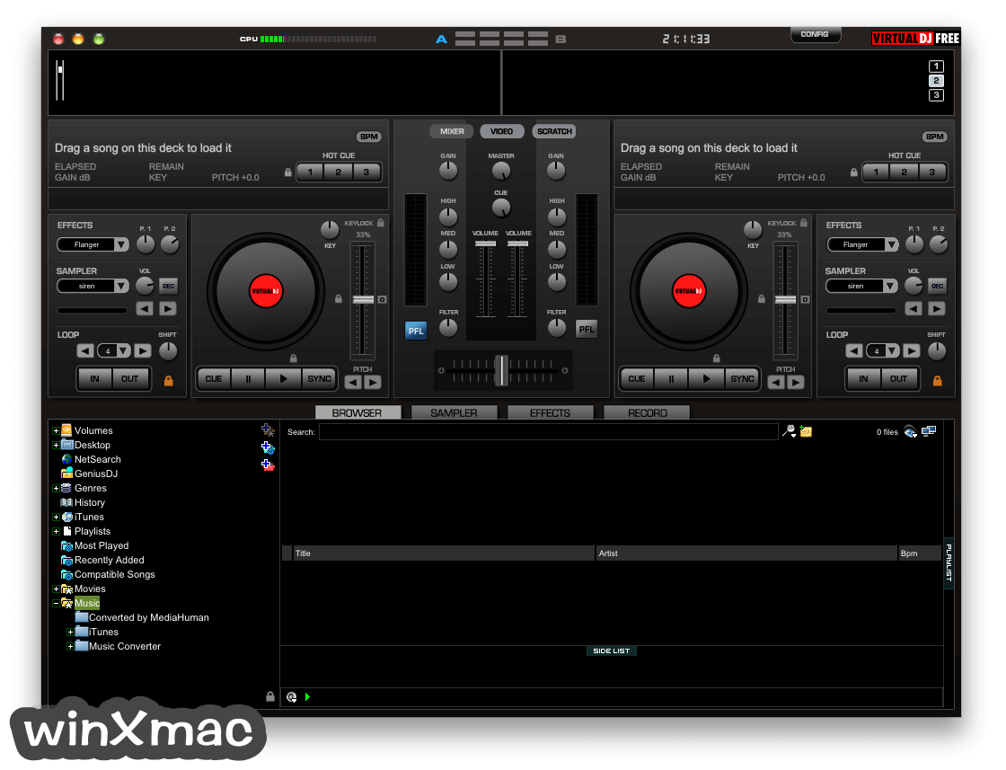 Virtual DJ for Mac Screenshot 1
