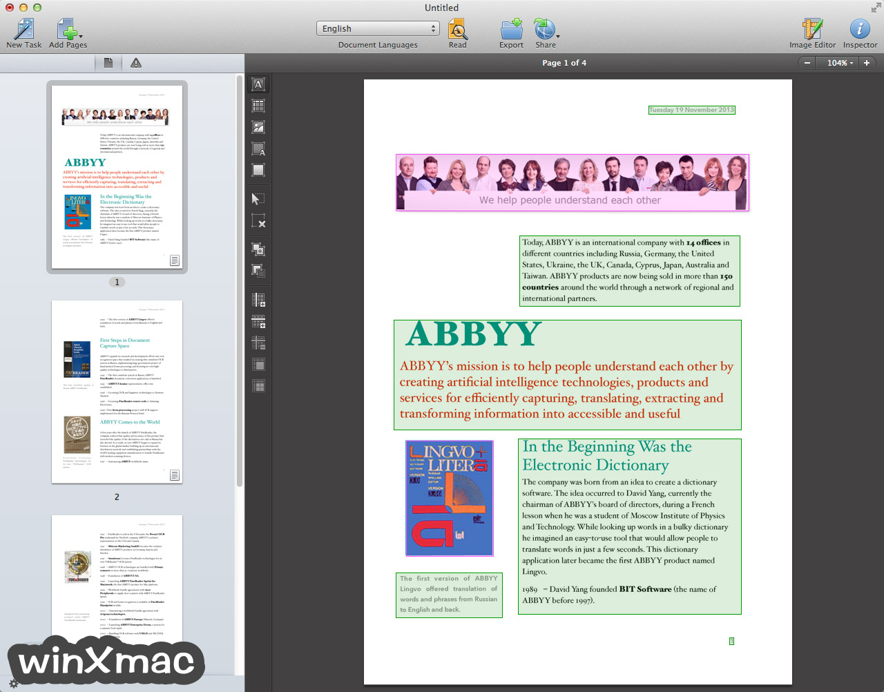 ABBYY FineReader Pro for Mac Screenshot 2
