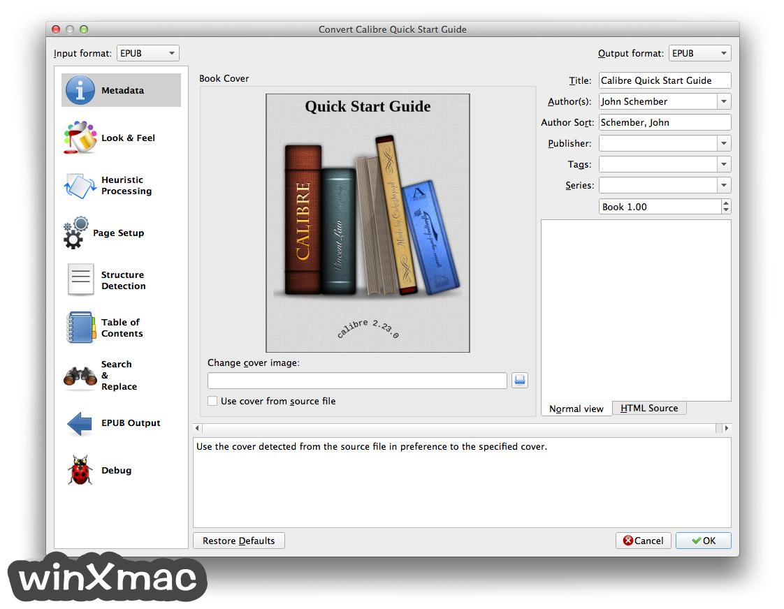 Calibre for Mac Screenshot 4