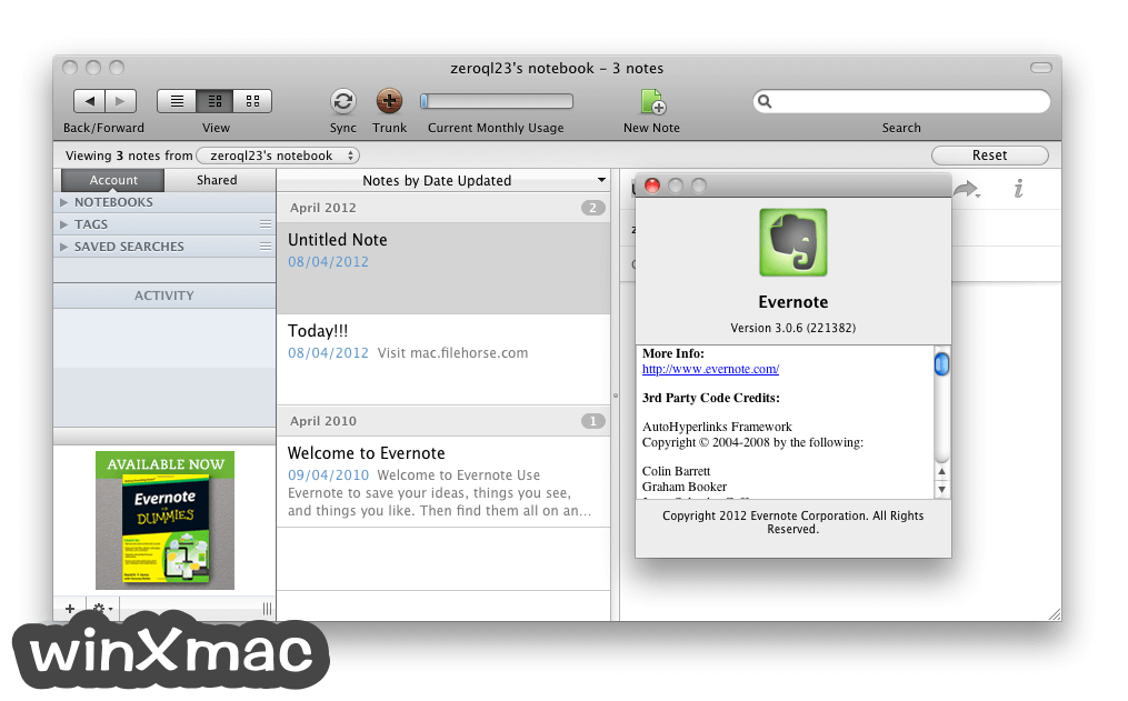 Evernote for Mac Screenshot 3