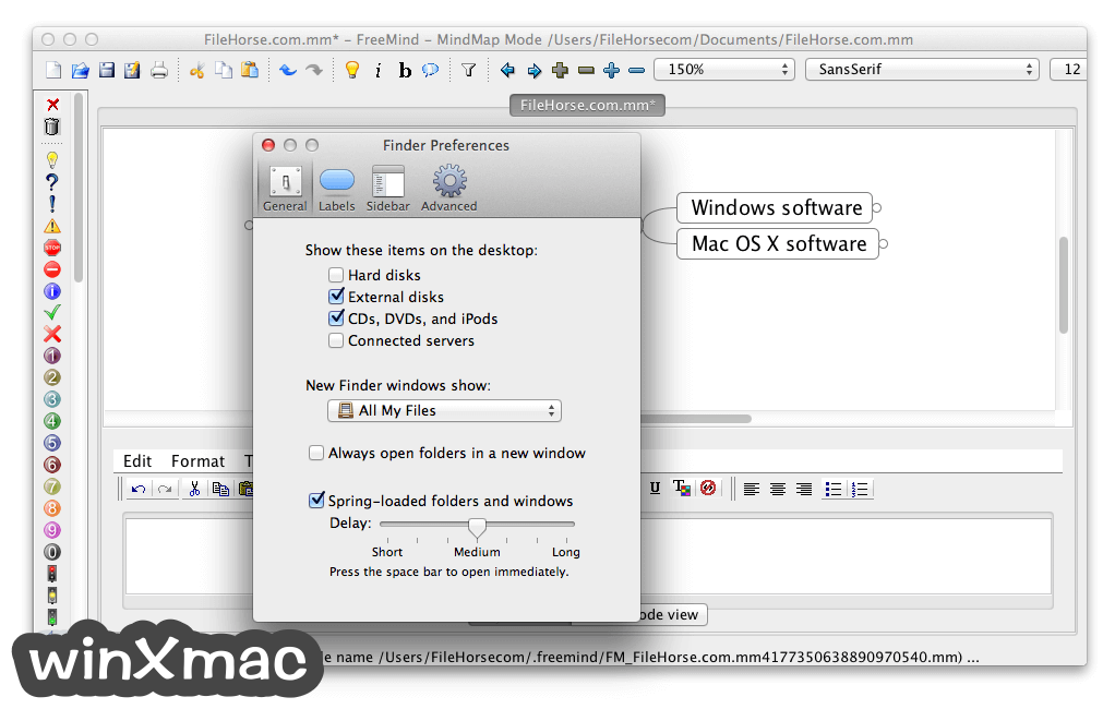 FreeMind for Mac Screenshot 5
