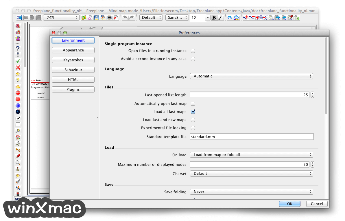 Freeplane for Mac Screenshot 5