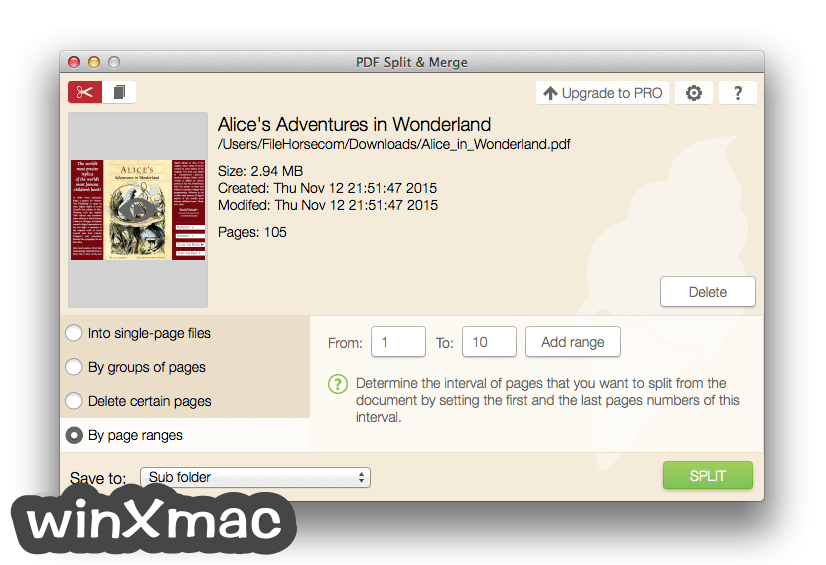 IceCream PDF Split & Merge for Mac Screenshot 2