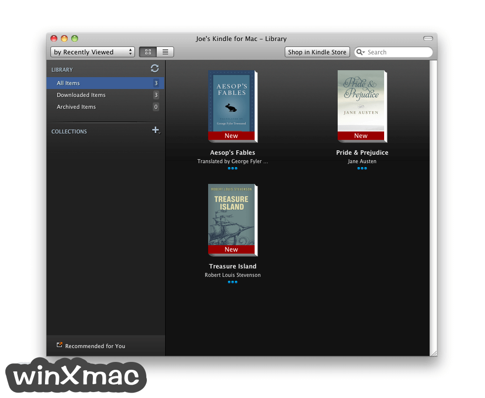 Kindle for Mac Screenshot 1