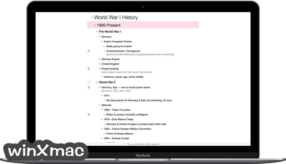 OmniOutliner Essentials for Mac Screenshot 2