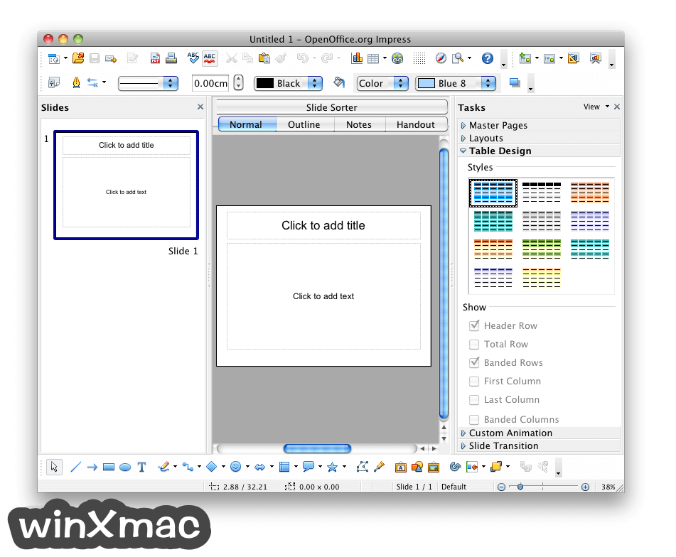 Apache OpenOffice for Mac Screenshot 4