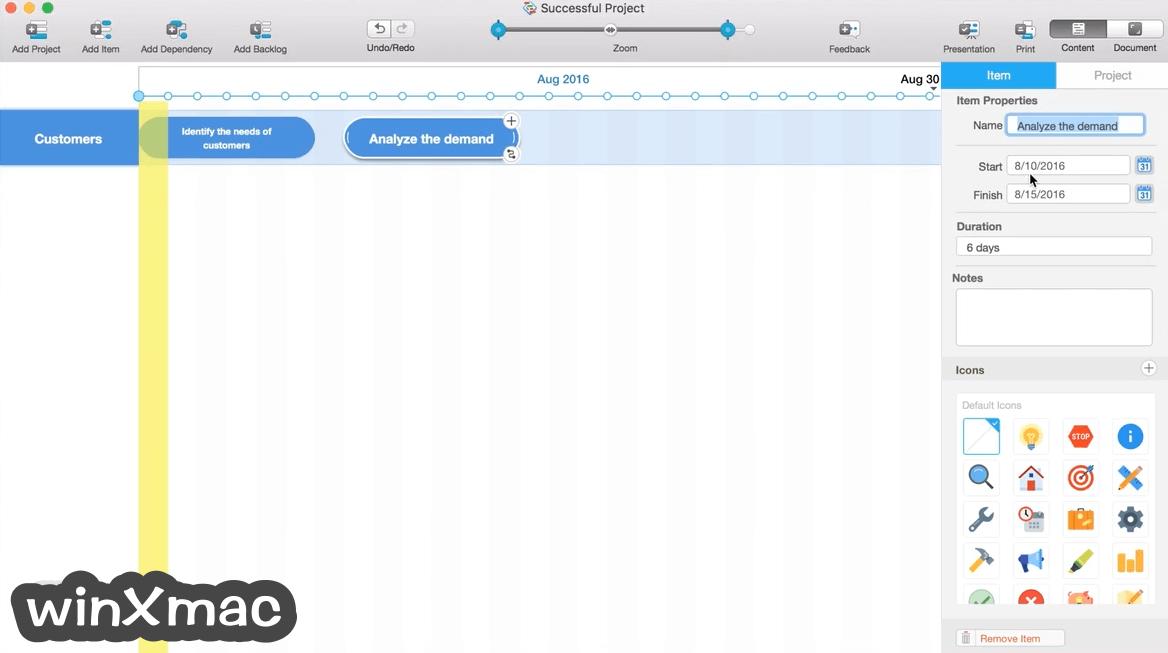 Roadmap Planner for Mac Screenshot 1