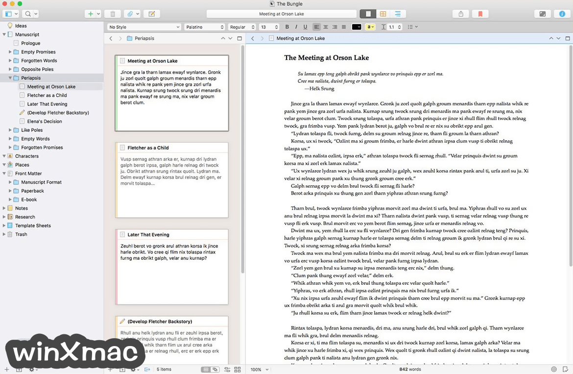 Scrivener for Mac Screenshot 1