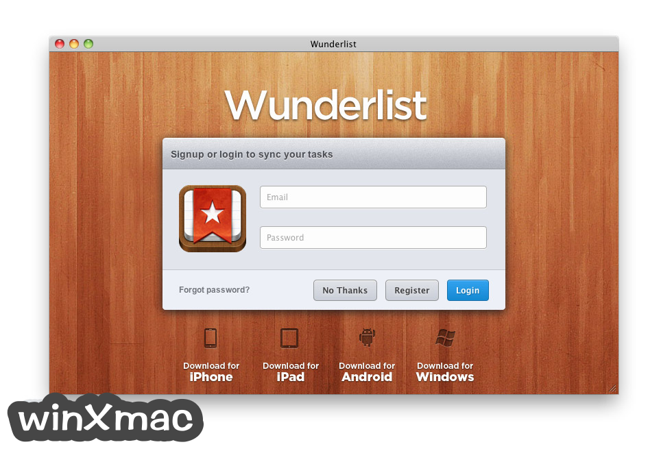 Wunderlist for Mac Screenshot 1