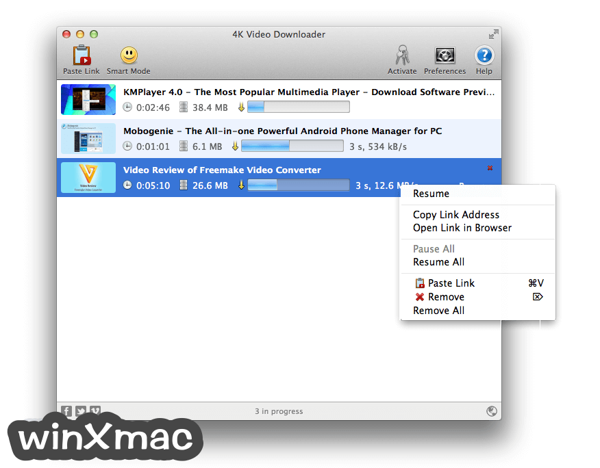 4K Video Downloader for Mac Screenshot 1