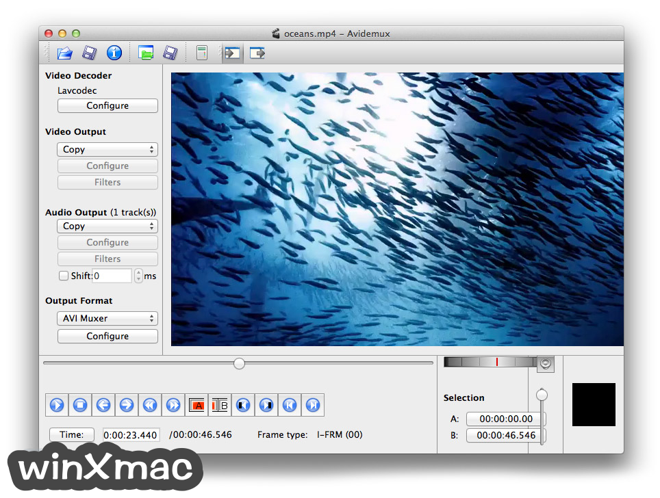 Avidemux for Mac Screenshot 1