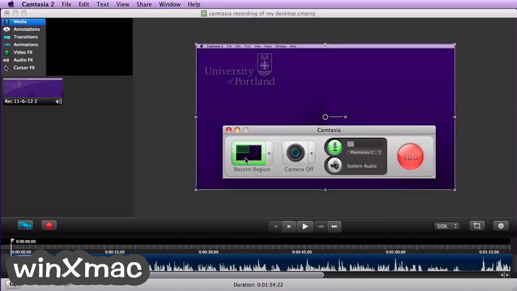 Camtasia Studio for Mac Screenshot 1