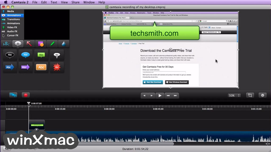 Camtasia Studio for Mac Screenshot 2