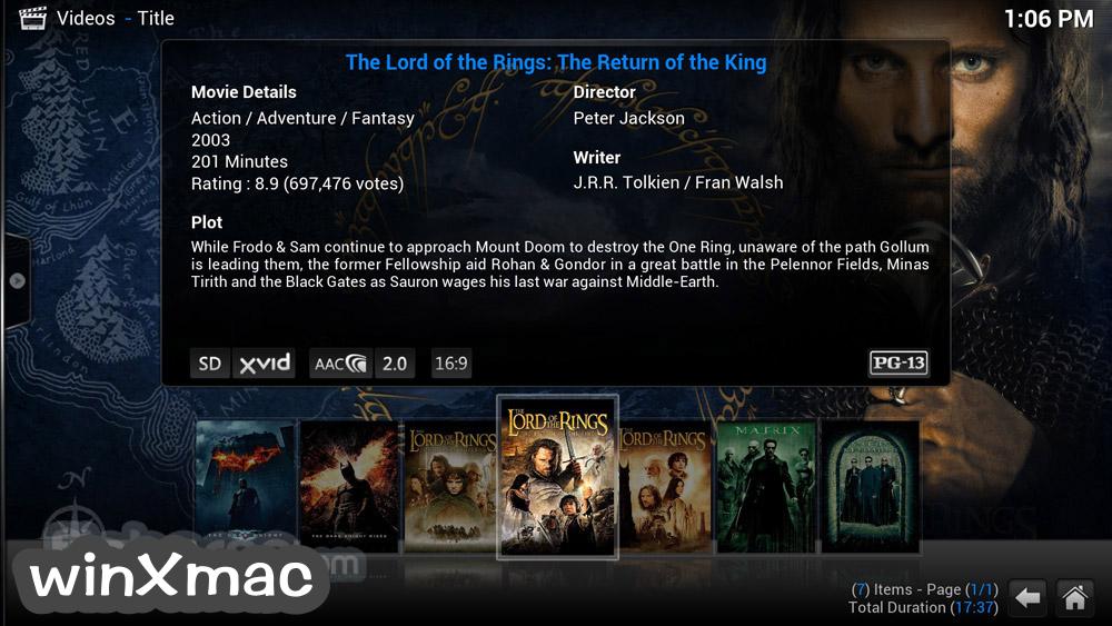 Kodi for Mac Screenshot 2