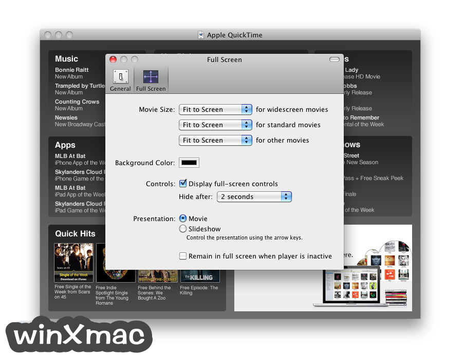 QuickTime Player for Mac Screenshot 4